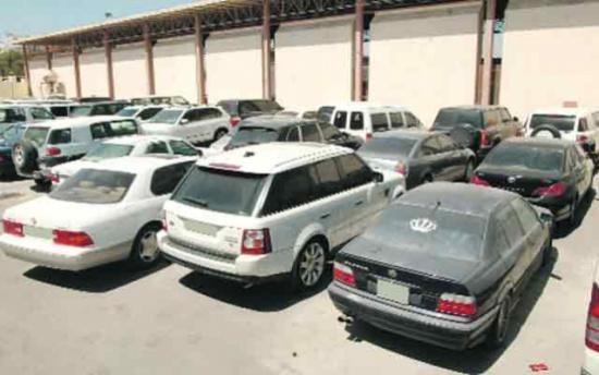 السيارات المحجوزة : ليرة ونص عن كل يوم أرضية